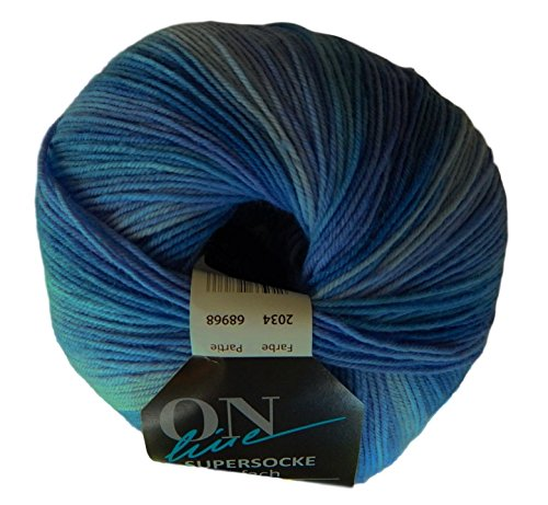 Merino Extra Fine Wool Blend Superwash Tonal Sock Yarn by On-Line - Gradient Online Make