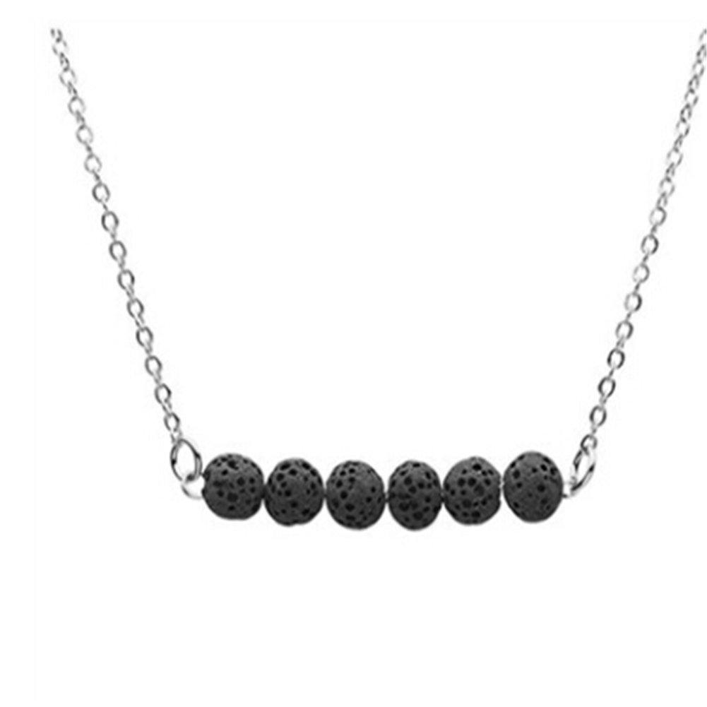最安 cianowegy Simple ブラック Tinyラバストーンネックレス Lava、Essential Oil Diffuserネックレスwith Lava – Stone – ステンレススチール ブラック ブラック B07BDKQBK9, ふとんのマルソウ:bd8f1307 --- martinemoeykens.com