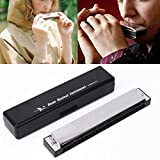 cici store Harmonica 24 Holes C Key Diatonic - Mini Mouth Organ Musical Instruments with Case