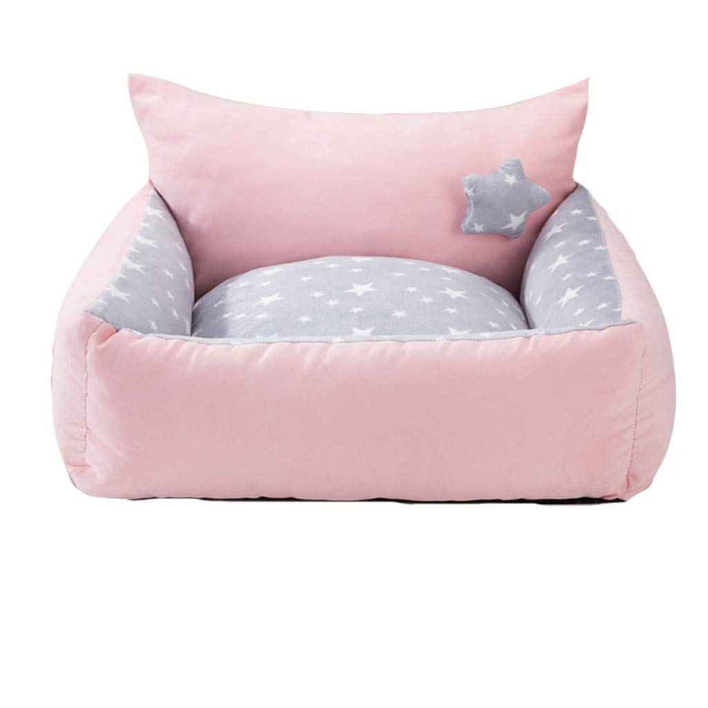 B Large B Large Kennel,pet Bed Winter Thick Warm Small Medium Dog Winter Dog House Pet Supplies Removable Washable (color   B, Size   L)