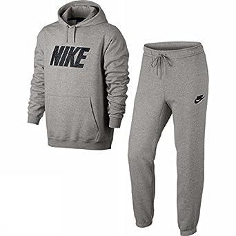 Nike M NSW TRK Suit FLC Gx Chándal, Hombre, Gris (Dk Grey Heather ...