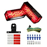 BougeRV 12V LED Low Profile Submersible Stop/Turn/Tail Trailer Light Kit IP65 Waterproof for Boat Trailer Truck Marine over 80 Inch