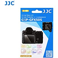 JJC 0.01' Ultra-thin 2.5D Round Edges 9H Clear Optical Tempered Glass LCD Screen Protector for Fujifilm GFX 50S Medium Format Mirrorless Camera, includes Shoulder Screen / Sub-screen Protector Film