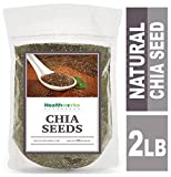 Healthworks Chia Seeds Raw (2lb / 32oz) | Pesticide-Free, Premium & All-Natural | Contains Omega 3, Fiber & Protein | Great with Shakes, Smoothies & Oatmeal