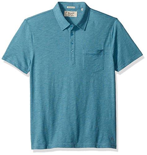 Mens blue original penguin polo original penguin blue for Golf shirt with penguin logo