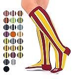 Go2 Team Compression Socks for Men & Women 15-20 mmHg Athletic Running Socks for Nurses Travel Medical Graduated Nursing Compression Stocking Sport Socks (RS S)