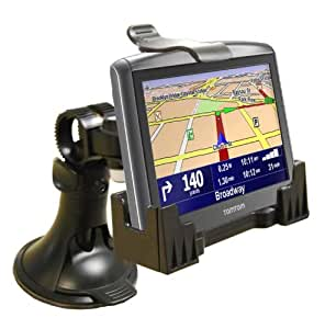 3-in-1 GPS Car Mount for the TomTom XL 340-S LIVE Series, - 3-Way Adjustable Angle for Optimal View - Includes Window Suction Mount, Dashboard Mount and Vent Clips