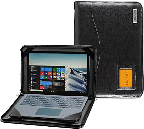 navitech leather protective case cover for the microsoft surface laptop