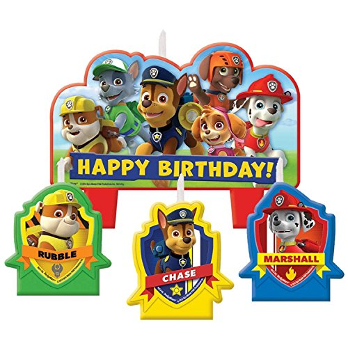 1 X Paw Patrol Candle Set (Mime Masks For Sale)