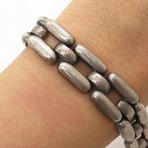 Vintage Europe Signed 835 Silver Link Bracelet 7
