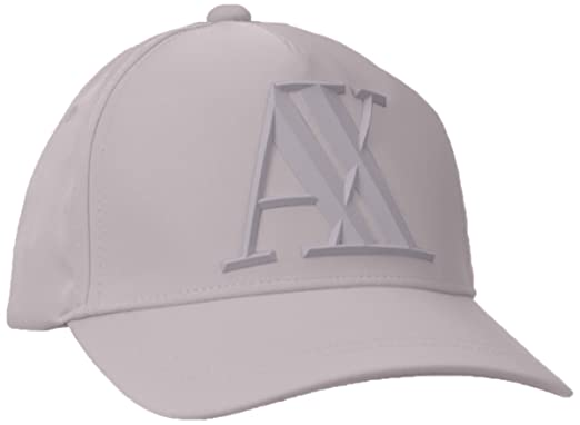 da081420df6 Amazon.com  Armani Exchange Men s Rubber AX Cap