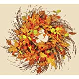 Worth Imports Wild Fall Leaf Twig Wreath, 24''