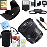Sigma 24mm f/1.4 DG HSM Wide Angle Lens (Art) for Nikon DSLR Camera Mount (401-306)+ 64GB Ultimate Filter & Flash Photography Bundle