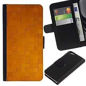 KLONGSHOP // Tirón de la caja Cartera de cuero con ranuras para tarjetas - Simple patrón de 32 - Apple Iphone 6 //