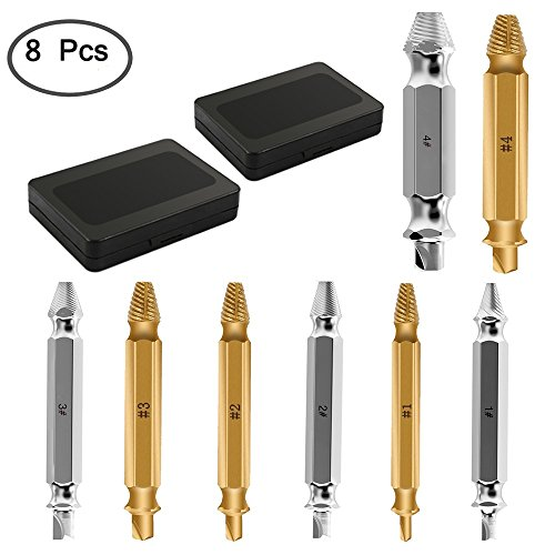 Back To Search Resultstools Hand & Power Tool Accessories New 4pcs Carpenters Screw&bolt Extractor Guide Drill Removal Broken Bolts Easy Out Double Side Bolt Stud Screw Extractors Strong Resistance To Heat And Hard Wearing