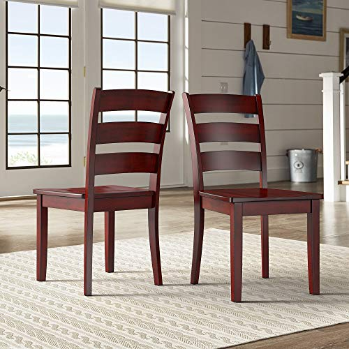 Inspire Q Wilmington II Ladder Back Wood Dining Side Chairs (Set of 2) by Classic Red Antique