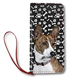 Basenji Dog Paw Pattern, Women Leather Long Clutch Wallet Purse Card Holder