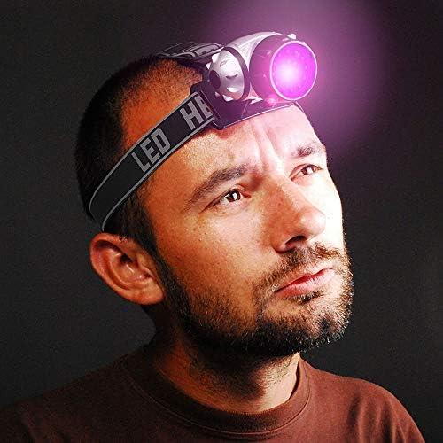 Linterna Frontal Uv p/úrpura Led faro ultravioleta linterna camping caza cabeza antorcha l/ámpara de luz