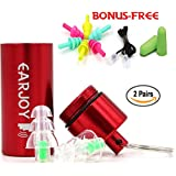 Music ear Plugs - Ideal Earplugs for Musicians or People who Prefer to High fidelity Ear plugs - Best Ear Plugs for Noise Cancelling - Includes 20dB and 27dB ear plugs noise reduction+FREE BONUS.