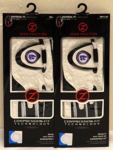 (2 Zero Friction Men's Left Hand Universal Golf Gloves - Kansa State -)