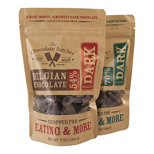 Chopped Belgian Chocolate Variety Pack-54% & 70% by The Chocolate Butcher (Image #1)