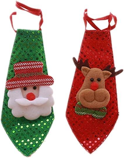 Tomaibaby 2 Piezas muñeco de Navidad niño Corbata Creativa niño ...