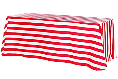 Stripe Satin Rectangular Tablecloth 90x132