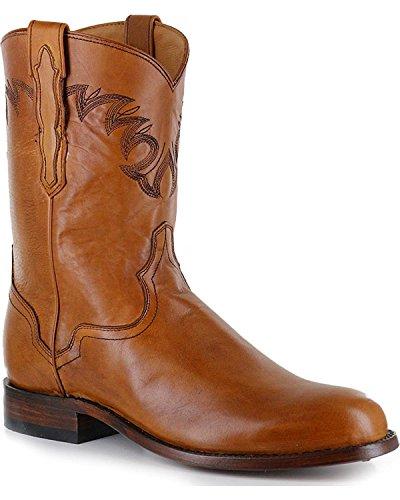 El Dorado Mens Handmade Embroidered Western Boot Round Toe - Ed1151 Tan Ql5eB6