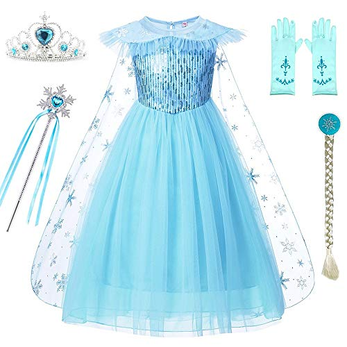 DXYTECH Snow Queen Elsa Costumes Frozen Princess Sequins