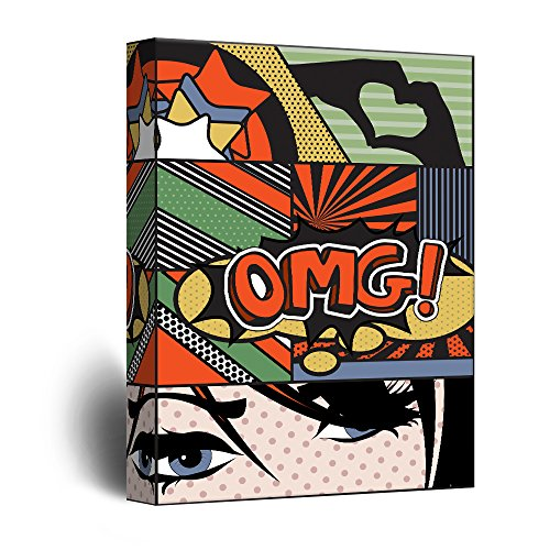 wall26 - Canvas Wall Art - OMG Pop Art Comic Strip Collage - Giclee Print Gallery Wrap Modern Home Decor Ready to Hang - 24x36 inches]()