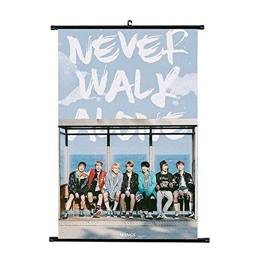 Kpop BTS Bangtan Boys You Never Walk Alone Poster Wall Scrol