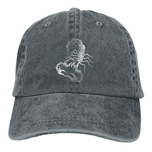 Skull Cowgirl Hat Women Men Denim Sport Scorpion Cowboy for Silver DEFFWB Hats Cap 0qITxdSSw