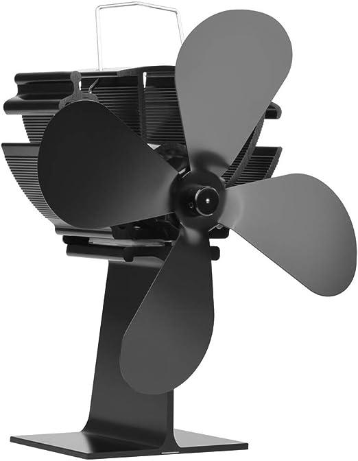 Rapoyo Ventilador térmico para Estufa de leña con 4 aspas de Ventilador de Estufa de Madera alimentada por Calor para Ventilador de Estufa de leña: Amazon.es: Hogar