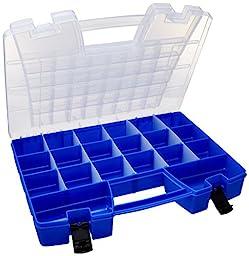 Akro-Mils 06118 Large Plastic Portable Hardware & Craft Parts Organizer, Blue