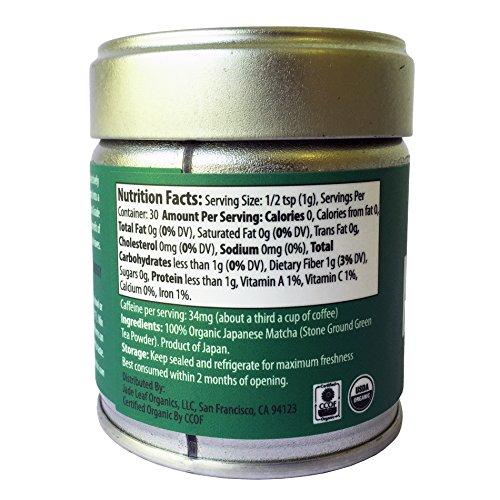 Jade Leaf Matcha Green Tea Powder - USDA Organic - Premium Ceremonial Grade (For Sipping as Tea) - Authentic Japanese Origin - Antioxidants, Energy [30g Tin] by Jade Leaf Matcha (Image #2)