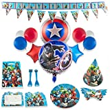 Superhero Party Supplies for 15 Superhero Guests with 200 Plus Items | Avengers Party Supplies | Avengers Birthday Party Supplies Decoration | Marvel Party Supplies | Captain America | Iron Man | Hulk