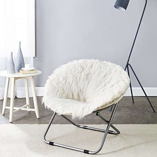 Fur Moon Chair - Polar White by DormCo