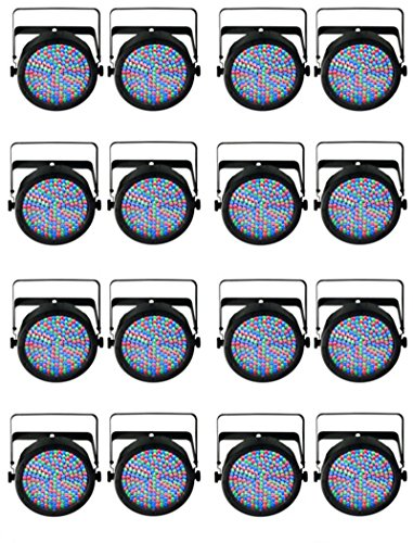 (16) Chauvet DJ SlimPar 64 LED DMX Slim Par Can Stage Pro RGB Lighting Effects