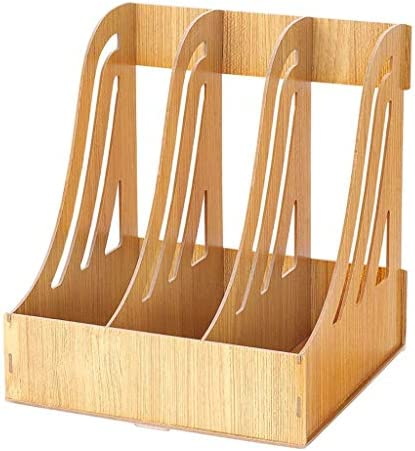 Aktenhalter Bürobedarf Aktenhalter aus Holz Buch steht Convenience (Farbe: A) Xping (Color : A)
