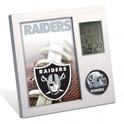 WIN NFL Oakland Raiders Digital Desk Clock