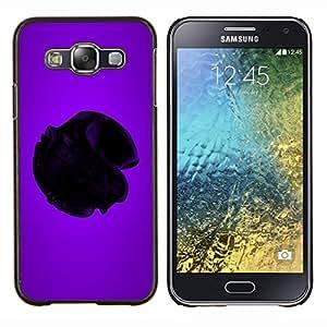 TECHCASE---Cubierta de la caja de protección para la piel dura ** Samsung Galaxy E5 E500 ** --Corazón Purpura