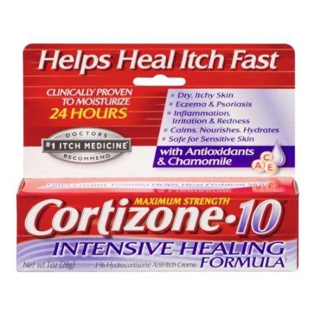 Cortizone 10 Intensive Healing Formula Anti-Itch Cream, 1 Ounce each, Pack of 6 by Cortizone 10