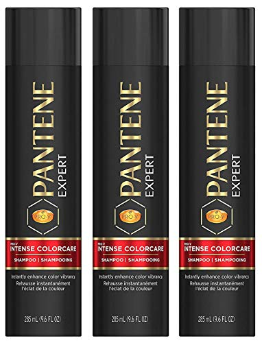 Pantene Expert Haircare - Pro-V Intense Colorcare - Shampoo - Net Wt. 9.6 FL OZ (285 mL) Per Bottle - Pack of 3 Bottles