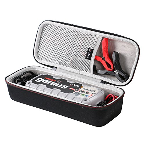 LTGEM EVA Hard Case Compatible with NOCO Genius G7200 12V/24V 7.2A UltraSafe Smart Battery Charger - Travel Protective Carrying Storage Bag