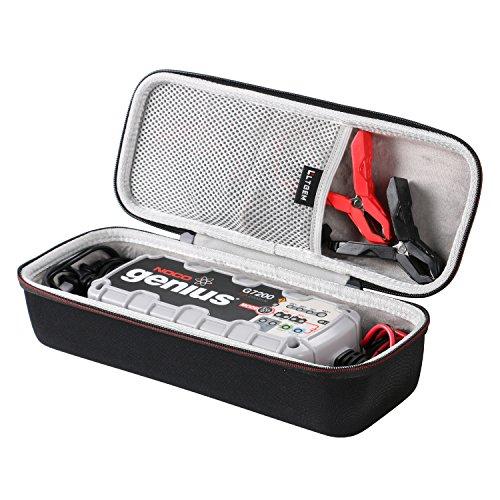 LTGEM EVA Hard Case for NOCO Genius G7200 12V/24V 7.2A UltraSafe Smart Battery Charger - Travel Protective Carrying Storage Bag