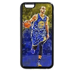 UniqueBox - Customized Black Soft Rubber TPU iPhone 6 Plus 5.5 Case, NBA Golden State Warriors Superstar Stephen Curry iPhone 6 Plus 5.5 Case