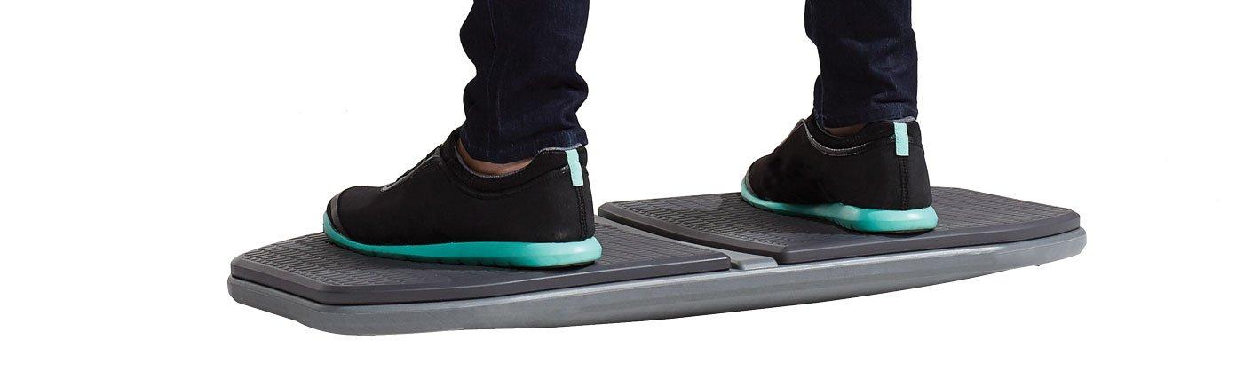 Gaiam Evolve Balance Board for Standing Desk - Stability Rocker Wobble Board for Constant Movement to Increase Focus, Alternative to Standing Desk Anti-Fatigue Mat