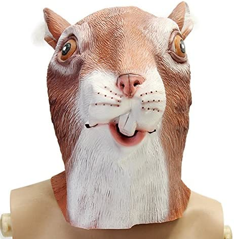 MOMOALA Alamor Cute Ardilla Máscara Espeluznante Animal Halloween ...