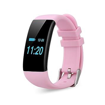Diggro DFit - Impermeable Ajustable Smartwatch Reloj de Pulsera Android IOS (Pantalla OLED, Ritmo Cardíaco, Podómetro, Monitor del Sueño, Recordatorio ...