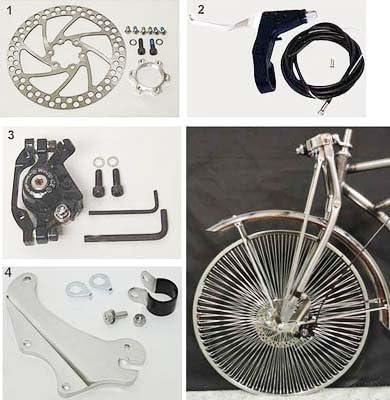 Springer Replica Bicycle Front Fork DLX Schwinn Old School Bike Cruiser Threaded